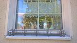 Blumenwandkorb oder Blumenfensterkorb aus Eisen zum Anhängen oder zum Stellen