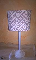 Fensterlampe, Tischlampe, Muster grafisch braun/creme