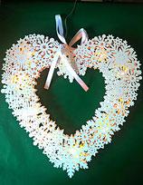 Fensterbeleuchtung/Weihnachtsbeleuchtung aus Holz (Herz)