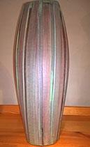 - Keramikvase oder Keramikbodenvase in Bambusoptik braun/grün, elipsenförmig, 40cm Höhe