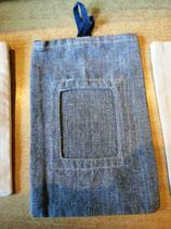 Stofftasche für Dufttüte von Brigdewater - hier grau/blau mit Fenster
