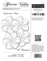 African Violets Petals Placemat Series - Replacement Papers
