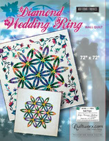 "Diamond Wedding Ring  WALL QUILT (72"" x 72"")"