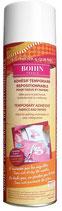 Adhésif temporaire repositionnable pour tissus et papiers