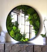 Miroir avec végétaux stabilisés
