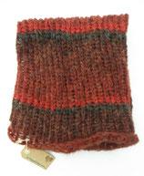 Ref. Cuello de Lana rojo teja y gris tamaño grande
