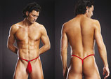 BLUE LINE Pouch G-String rot