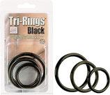 Tri-Rings schwarz - Penis-Ring