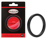 MALESATION Metal Ring Black Stamina 45
