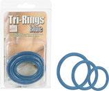 Tri-Rings blau - Penis-Ring