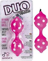 Duo Balls Jelly pink - Liebeskugeln