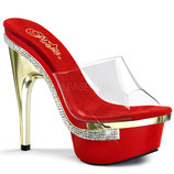 Royal-601 clr/red gold brill. - High Heels