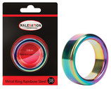 MALESATION Metal Ring Rainbow Steel 38