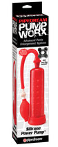 Silicone Power Pump red - Penis-Pumpe