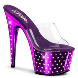 Stardust-701 clr/purp-chrome - High Heels