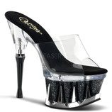 Spiky-601MG clr/blk glit.chrome - High Heels