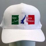 """Baseballcap weiß mit Stick  """"Mein Gardasee"""""""