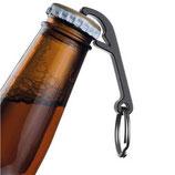 Alu-Flaschenöffner schwarz - Schlüßelanhänger