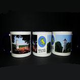 Tasse aus Keramik mit Motiven von Biberach