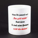 """Tasse aus Keramik """"Grenzen"""""""