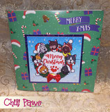 Kitty Christmas Wreath XXL Card 01