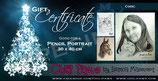 REGULAR Pencil Drawing Gift Certificate