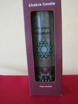 Chakrenkerze grün für das vierte Chakra Abmessungen: 21x6,5 cm