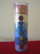 Kerze – 7 Chakren - Regenbogen Abmessungen: 21x6,5 cm