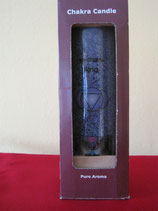 Chakrenkerze hellblau für das fünfte Chakra Abmessungen: 21x6,5 cm