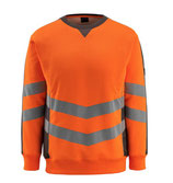 Warnschutz-Sweatshirt Wigton orange, Hi-Vis Gruppe A, Klasse 3