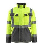 Warnschutz-Winterjacke mit Steppfutter gelb, Hi-Vis Gruppe A, Klasse 3