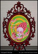 Medusa アクリル画(フレーム付)