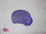 Mütze flieder m. XL Blume ab 18M