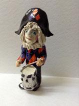 Harlekin Tambourfigur ca 25 cm verkauft neu ca 3 wochen