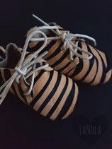 """Leren veterschoentjes print """"Zebra"""""""