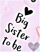 "Shirt ""Big sister to be"""