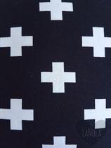 """Knoopmuts """"Zwart met witte kruisjes"""""""
