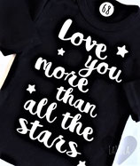 "Shirt ""Love you more than all the stars"""