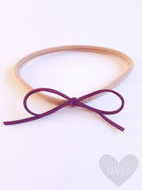"Haarbandje nylon ""strik paars"""