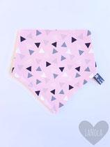 "Slabbetje handmade ""Pink Triangle"""