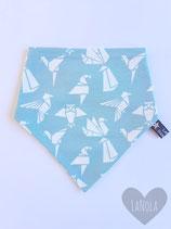 "Slabbetje handmade ""Mint Origami"""