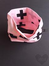 "Sjaaltje  ""Pink & Black kruisen"""