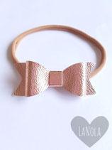 """Haarbandje nylon """"rosé goud leer"""""""