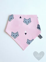 "Slabbetje handmade ""Pink foxes"""