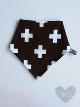 """Slabbetje handmade """"Black & white kruisjes"""""""