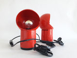 VINTAGE RED POP PLASTIC WALL LAMP