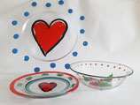 KOSTA BODA lot of 3 plates and bowl