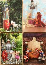 Postkarten mit vier Motiven aus dem Rapunze l- Bilderbuch