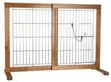 Trixie 3946 Hunde-Absperrgitter für Türen und Treppen mit Durchgang
