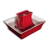 Petsafe Drinkwell® Keramik-Trinkbrunnen Pagoda Rot PAGODA-RD-EU-19
